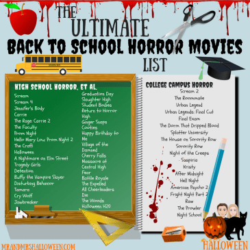 Back to School Horror Movies List High School Horror College Horror Mr and Mrs Halloween