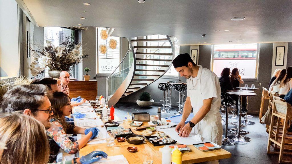 sushi making class london kouzu