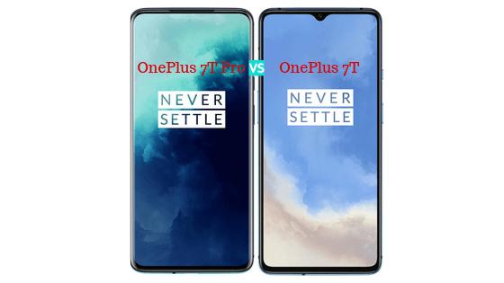 OnePlus 7T Pro vs OnePlus 7T