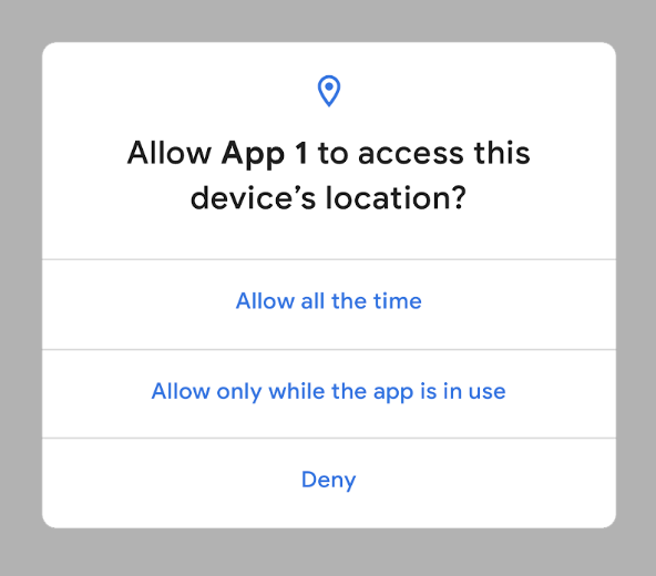 One-time permissions