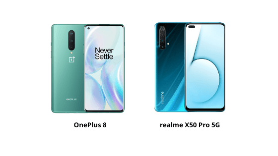 oneplus 8 vs realme x50 pro 5g