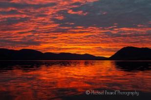 sunset in southeast alaska