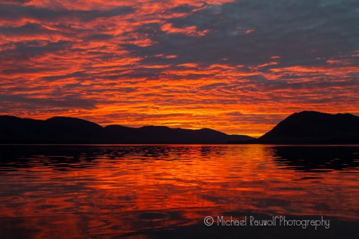 sunset in southeast alaska