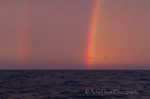 rainbows on water