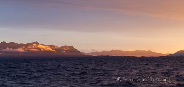 sunrise in southeast alaska