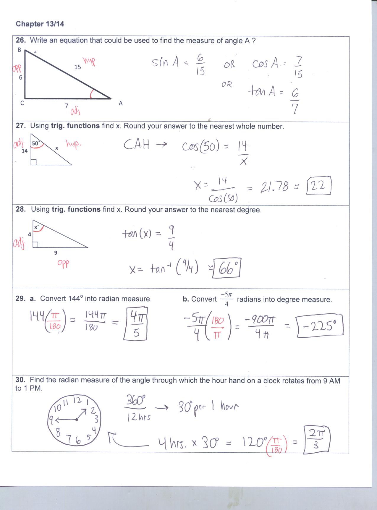 Algebra 1 Keystone Packet Answers