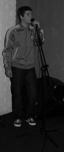 Singer black and white 1
