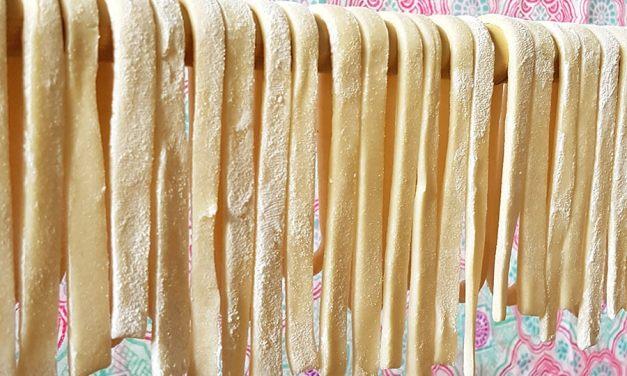 [Recette] Pâtes fraîches maison sans oeuf et sans machine (udon)