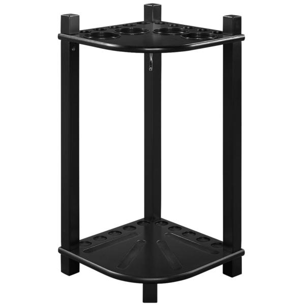 modern floor cue rack black