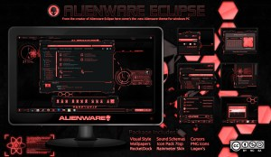 Premium theme for windows 7, alienware style, red coloured, just $2.50