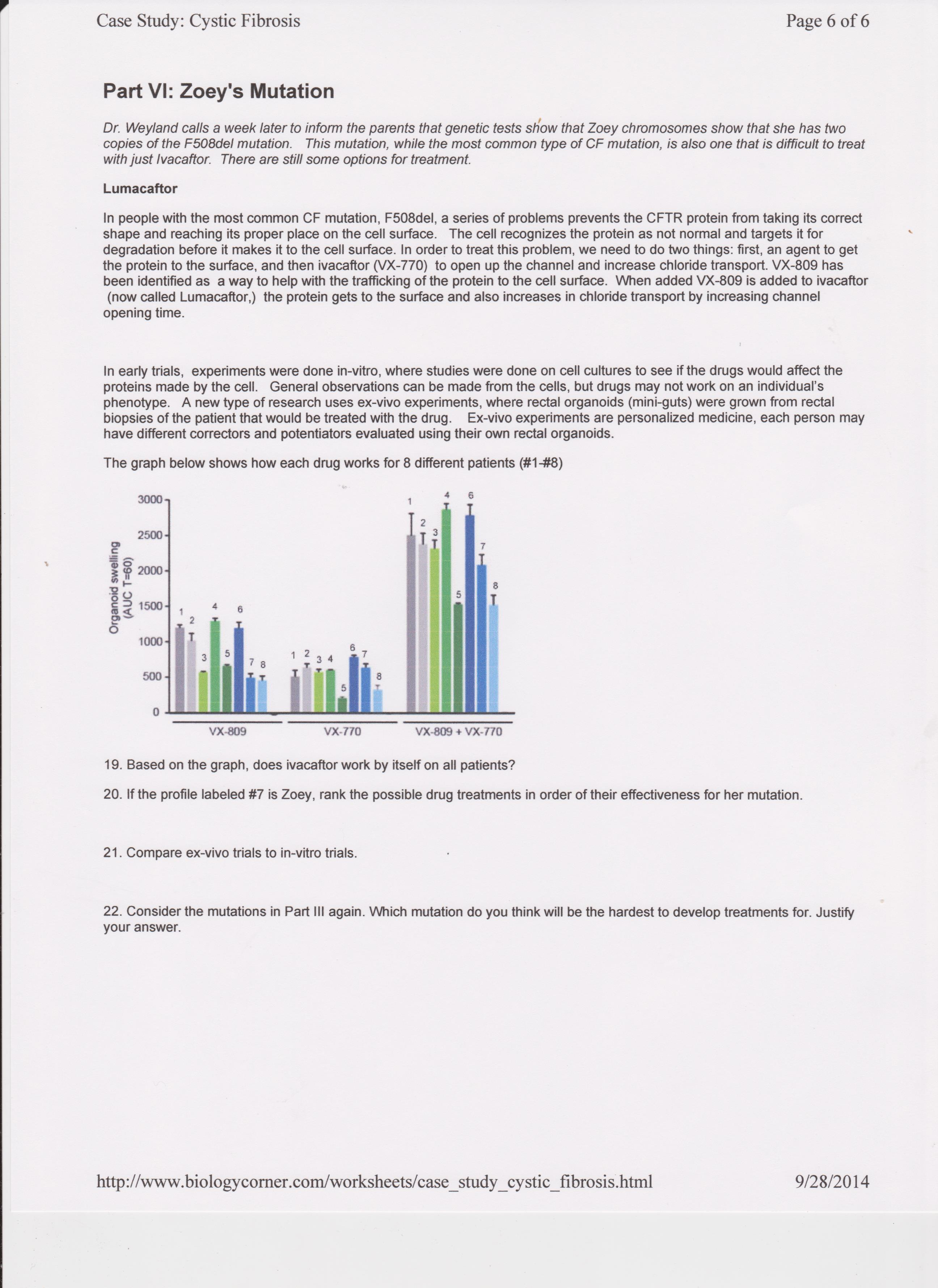 Week 7 Cell Lab And Cystic Fibrosis Case Study