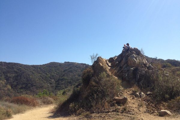 Hastain Trail Hikers Resting Above