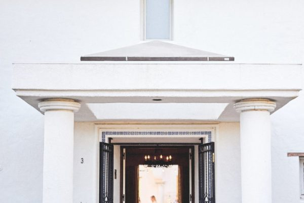 Front door and entrance lobby of the Mansion, Photo courtesy of Stop and Stare Events, Photography by Brandon Aquino