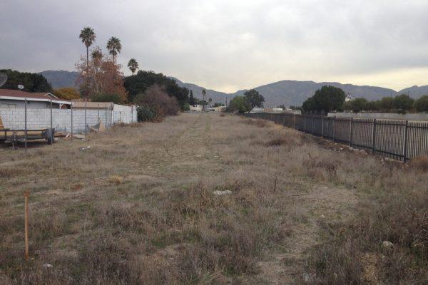 El Dorado Park site, looking north