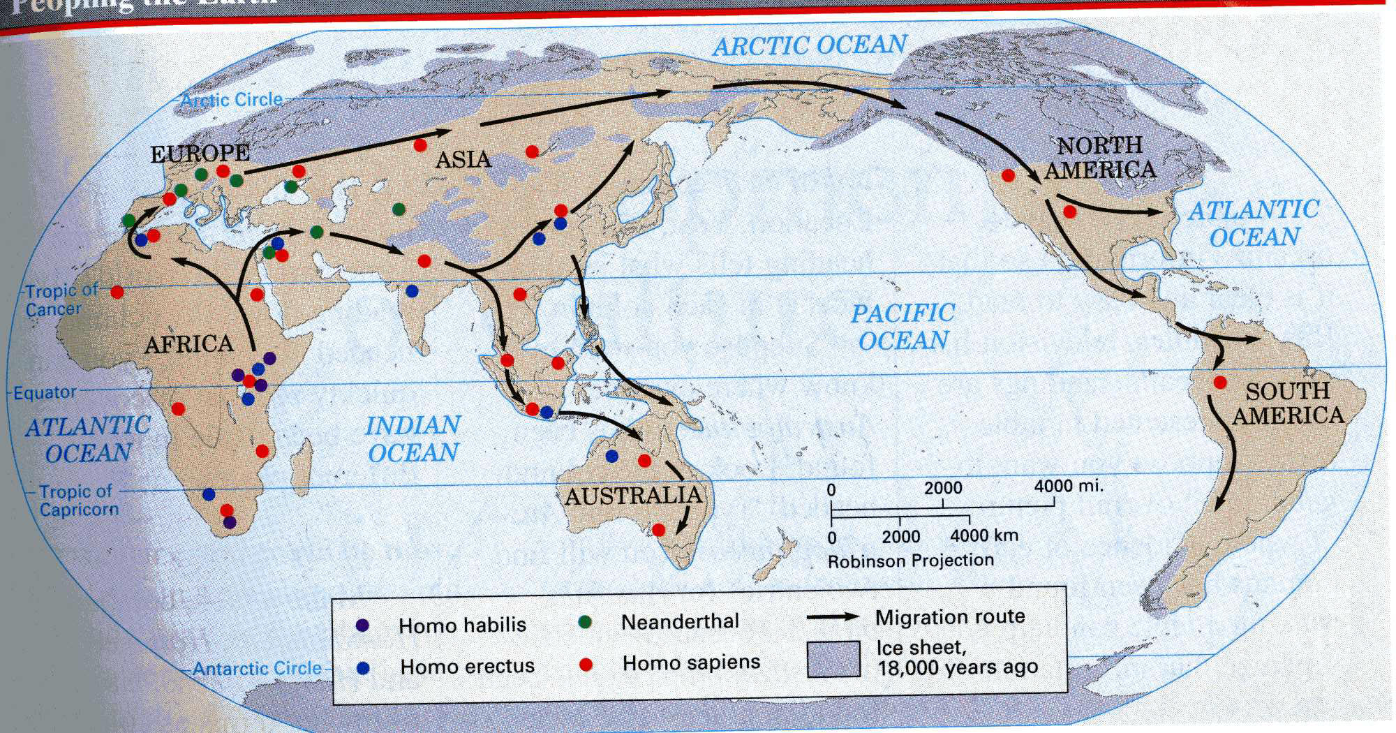 Early Human Migration Map Worksheet Answers