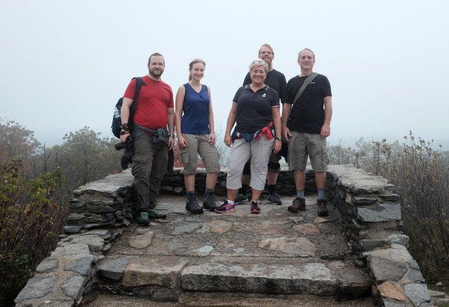 The visiting staff hiked Mt. Wachusett with Ms. Wozniak and Mr. Coan