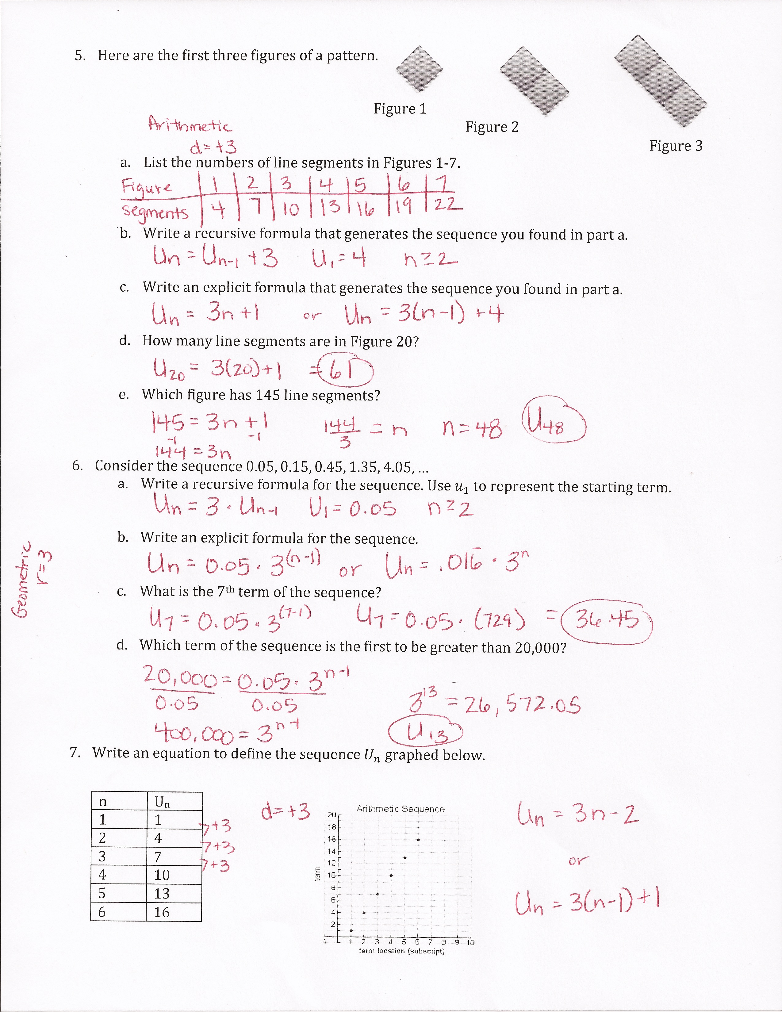 Arithmetic Sequence Worksheet