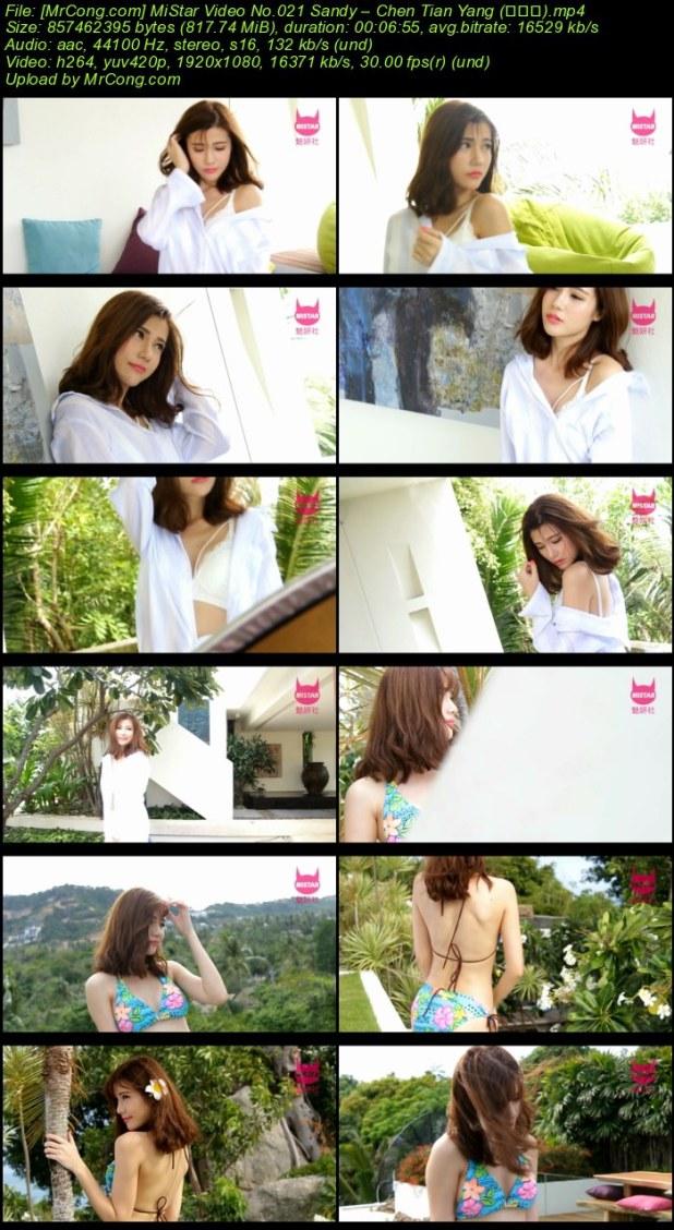 MiStar Video No.021: Người mẫu Sandy – Chen Tian Yang (陈天扬)