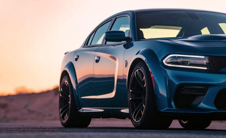 Blue Dodge Charger SRT
