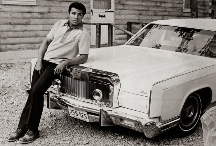 Muhammad Ali pictured with his favorite car