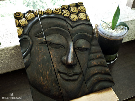 Wooden Buddha Face Wall Art Panels (6)