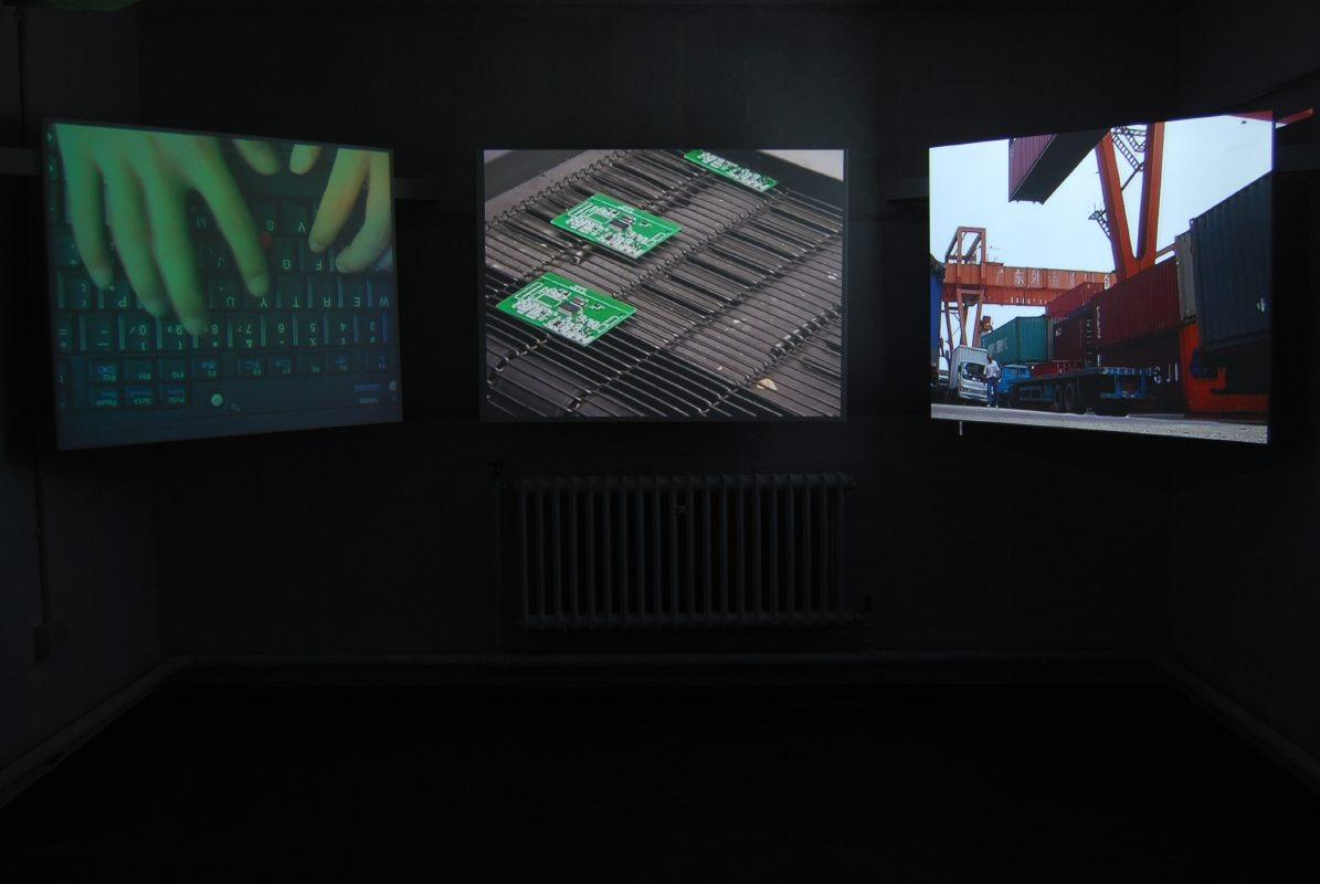 Mr Democracy video installation2