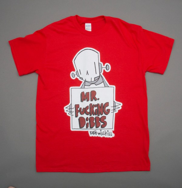 Robots Will Kill / Mr. Dibbs Collab Shirt in Red