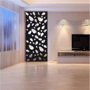 18pcs 3D Large Size Cobblestone Mirror Wall Stickers