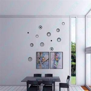 5PCS 3D Indoors Studio Decor Circles Wall Stickers
