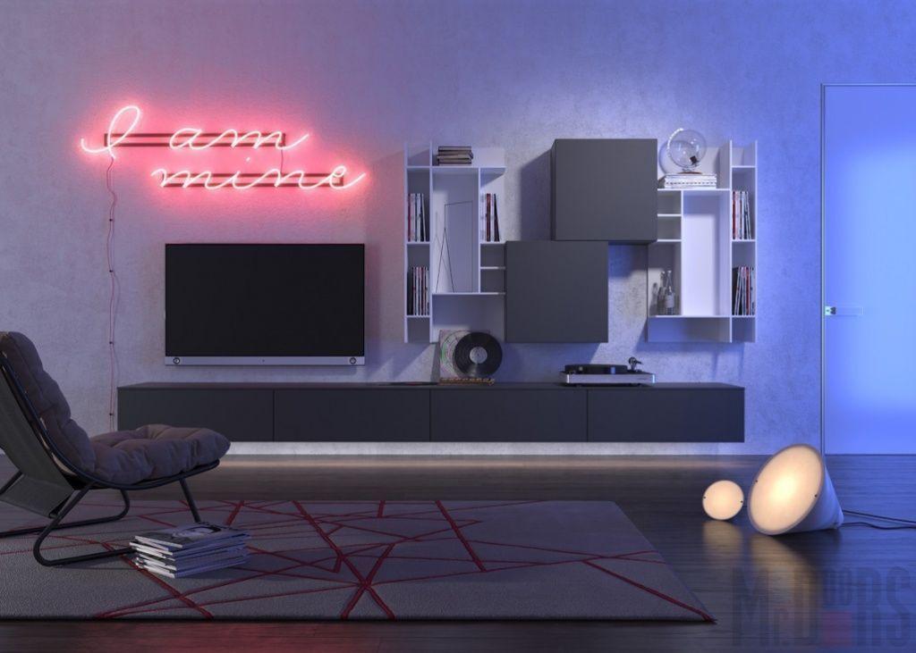 Минималистичный дизайн гостиной