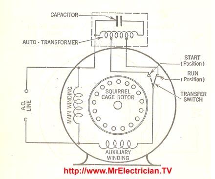 single phase electric motor diagrams