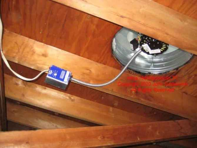 attic fan replacement