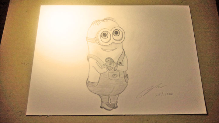Dave Minion Pencil Sketch by Shah Ibrahim