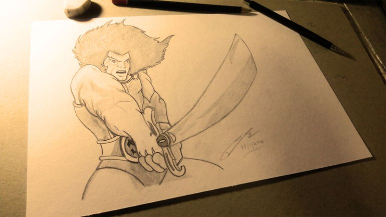 Lion-O ThunderCats Pencil Sketch by Shah Ibrahim