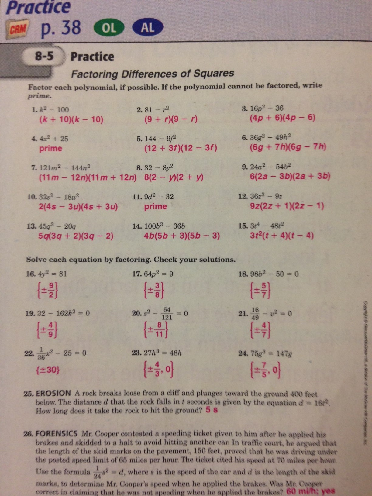 Workbook Answers