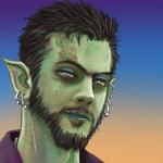 Mr. Guy creator, writer, illustrator and publisher, Jayel Draco's zombified bio pic
