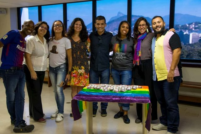 Members of the Micro Rainbow Brazil team at the graduation ceremony