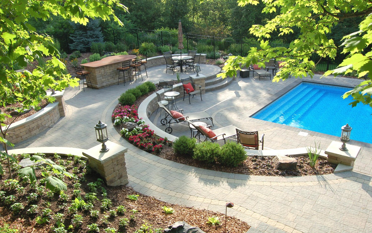 HOW TO GET THE RIGHT BALANCE OF HARDSCAPE AND SOFTSCAPE ... on Backyard Hardscape Design id=42756
