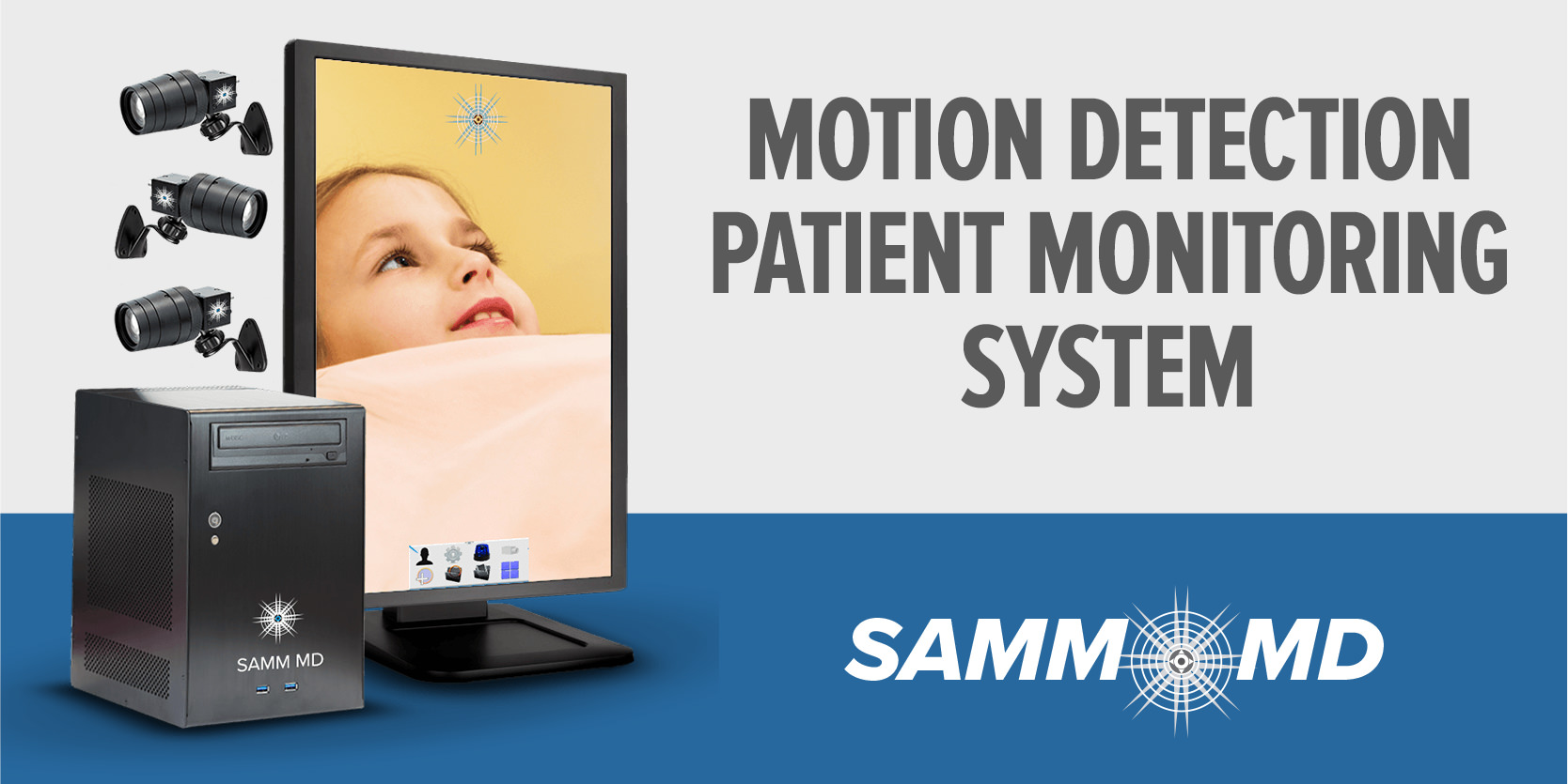 SAMM MD Motion Detection Patient Monitoring System by Sound Imaging