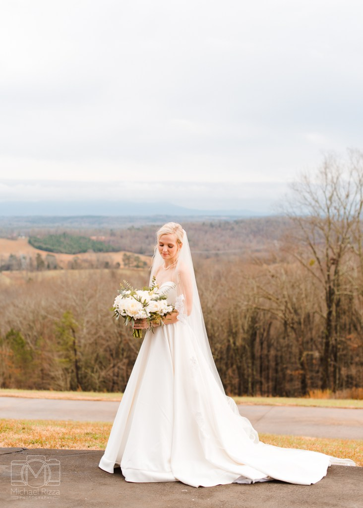 The Views at Sunset Ridge Wedding in Chattanooga TN | Bridal Portraits