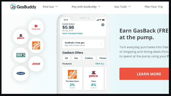 Use the gas buddy app to find the best gas prices on vacation