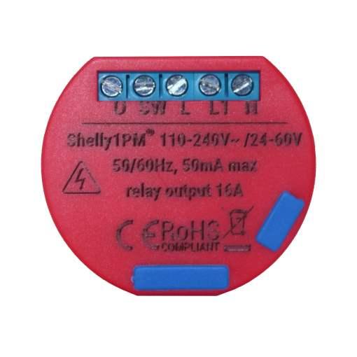 Releu cu monitorizare consum pentru automatizari Smart Home, Shelly, Shelly1 PM, Wi-Fi, 2.4 GHz b/g/n