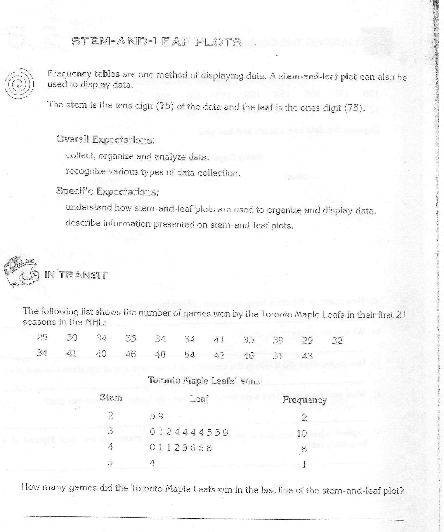 Worksheet Stem And Leaf Plot Worksheets Grass Fedjp