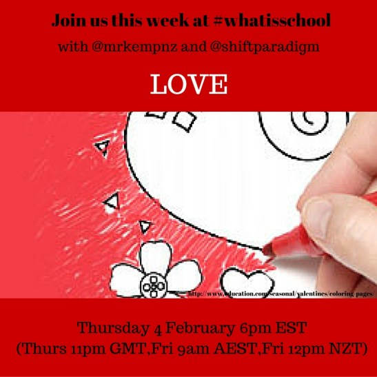 Join us at #whatisschool LOVE