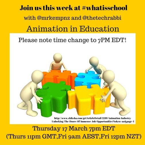 Join us at #whatisschool Animation