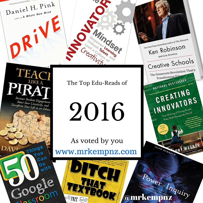 The Top 8 Professional Reads for Educators 2016 (plus more) – Mr Kemp NZ
