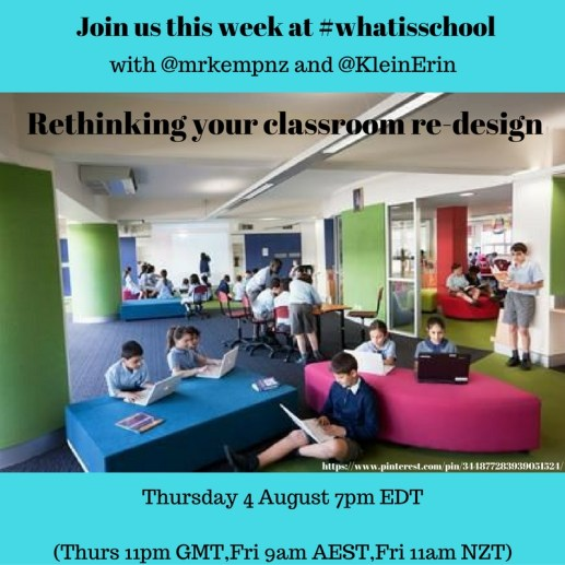 Join us at #whatisschool Rethinking your re-design
