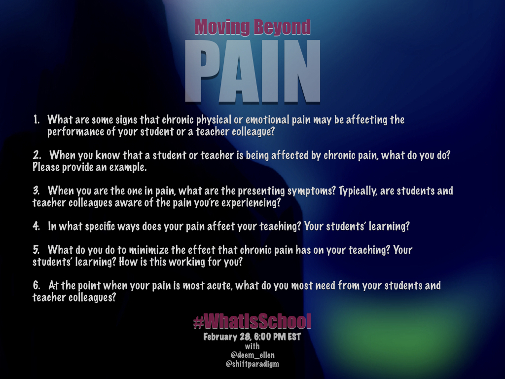 """What is School? """"Moving Beyond Pain"""""""