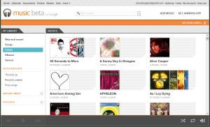 Google Music Web Interface