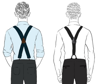 wear suspenders